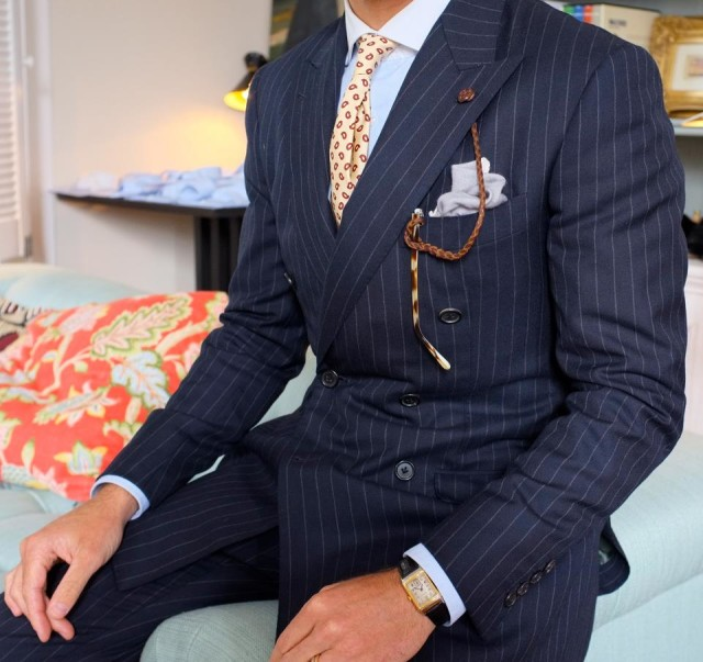 Custom Made Pin Striped Suit